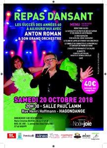 Repas dansant Anton Roman et son orchestre, 20 octobre 2018