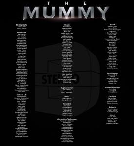 Stereo D Poster, Anton Schefter Credits for Movie The Mummy