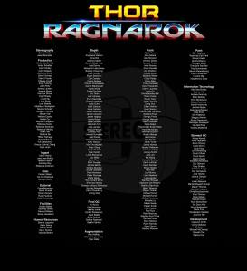 Stereo D Poster, Anton Schefter Credits for Movie Thor Ragnarock