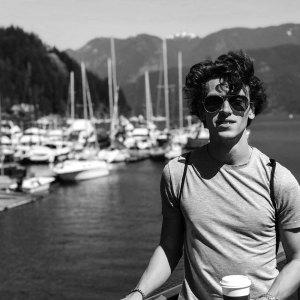 Anton Schefter Vancouver Canada Marina Harbour Spring Black and White