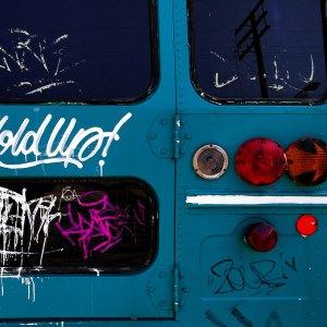 Bus Toronto Graffiti Tagged Colourful Blue Design