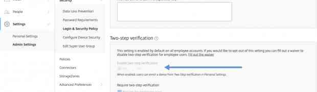 ShareFile one-click User Provisioning