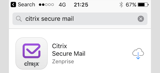 XenMobile Public Apps - Secure Mail