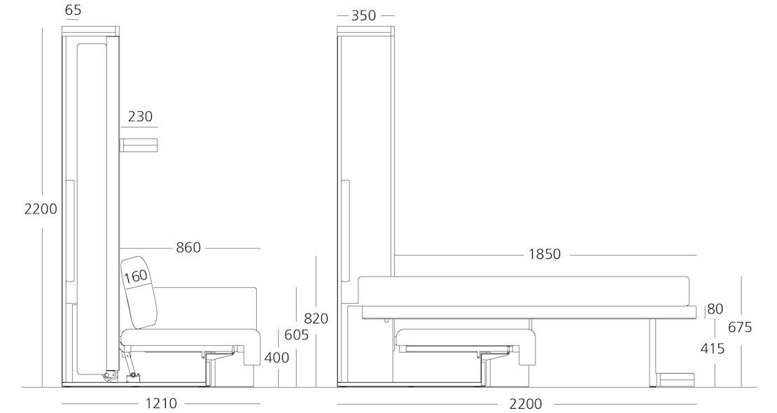 Armoire Lit Rabattable Avec Canape Integre Clei Nuovoliola Design