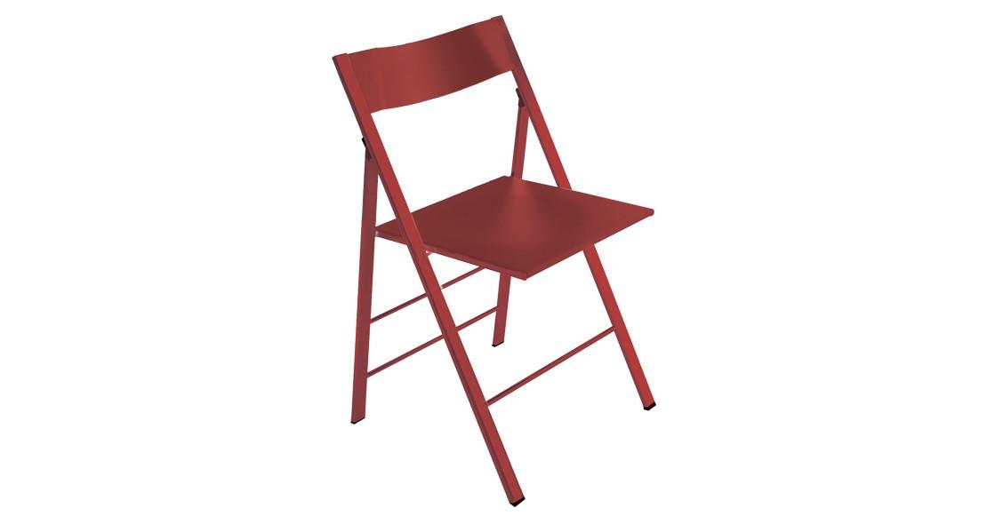 chaise confortable pliable pock polypropylene easyline ozzio italie