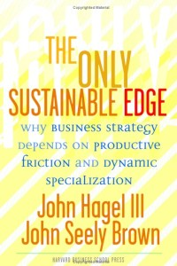 Image: John Hagel & John Seely Brown's book, The Only Sustainable Edge