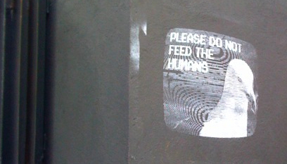 Image: Don't feed the humans (Brighton graffitti)