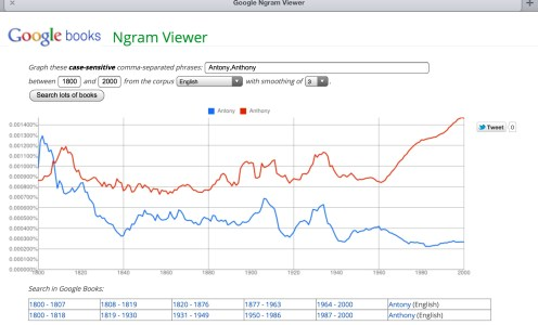 Long term trends: The Ngrams Viewer