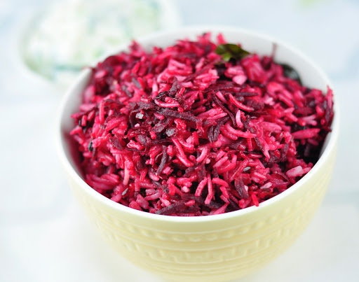 BEETROOT RICE – A TASTY BEETROOT RECIPE