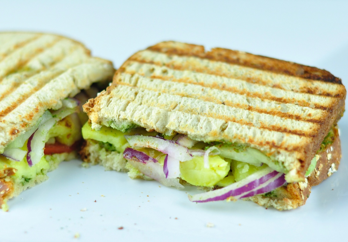 foto How to Make an Indian Vegetable Sandwich