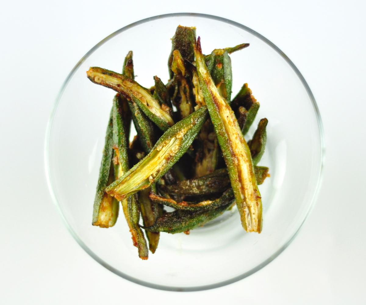 easy oven roasted okra