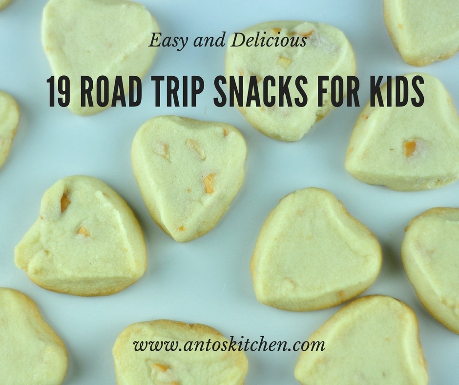 20 kids snacks recipes for road trips