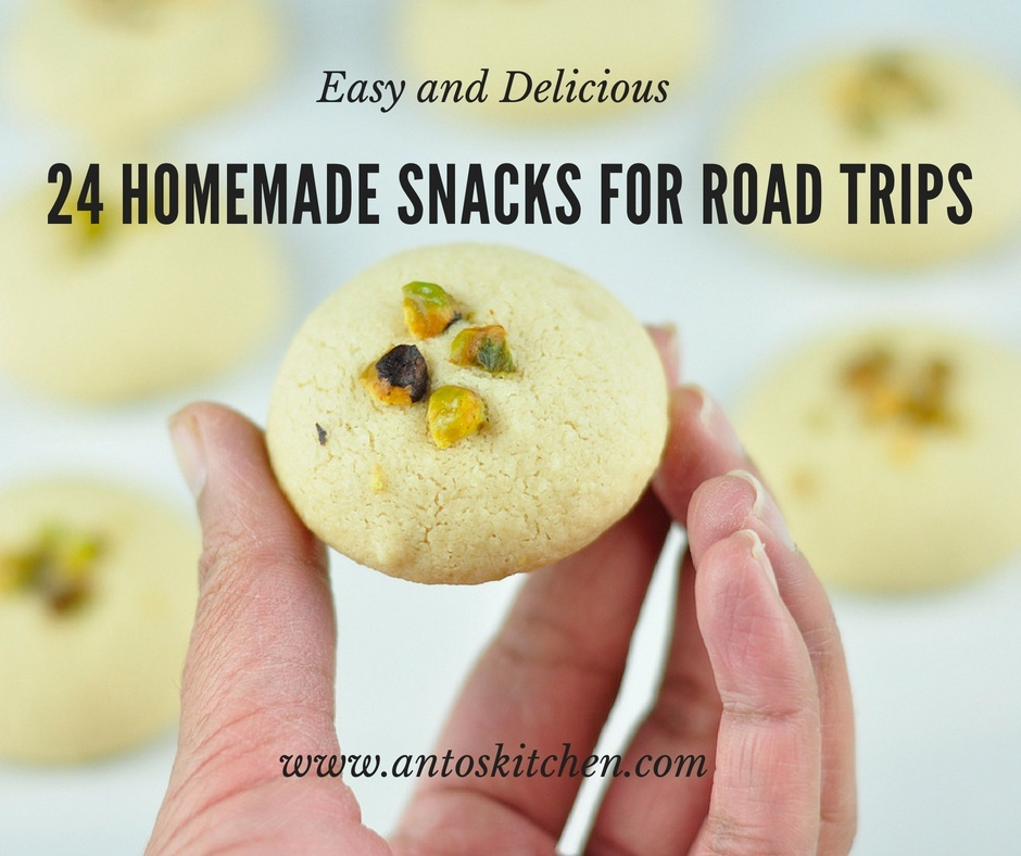 24 kids snacks recipes for road trips
