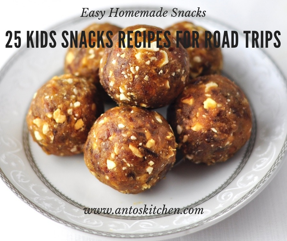 25 kids snacks recipes for road trips