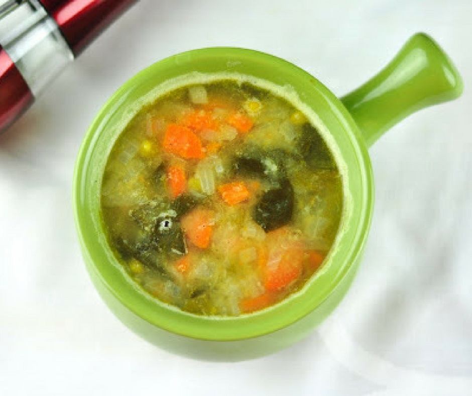 MOONG DAL SOUP WITH MIXED VEGETABLES
