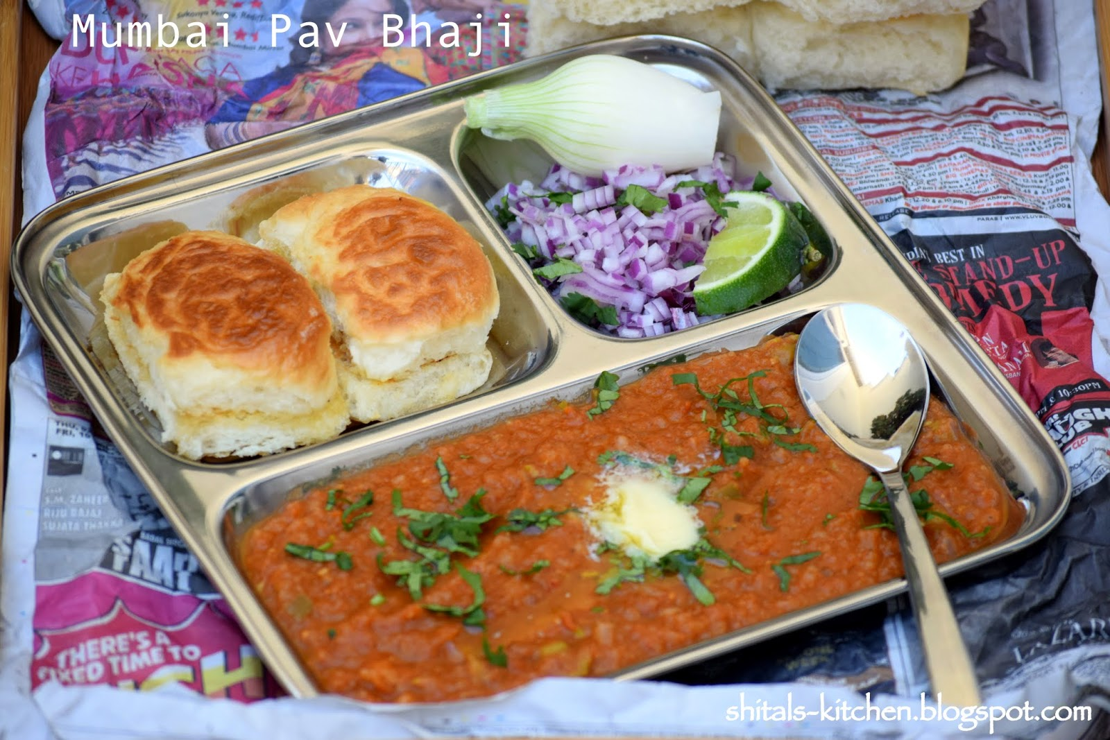 15 indian vegetarian dinner recipes from popular bloggers antos pav bhaji another favorite of most mumbaites people in mumbai bhaji is mixed vegetable cooked with spices is served along with pavbun a simple meal of forumfinder Images