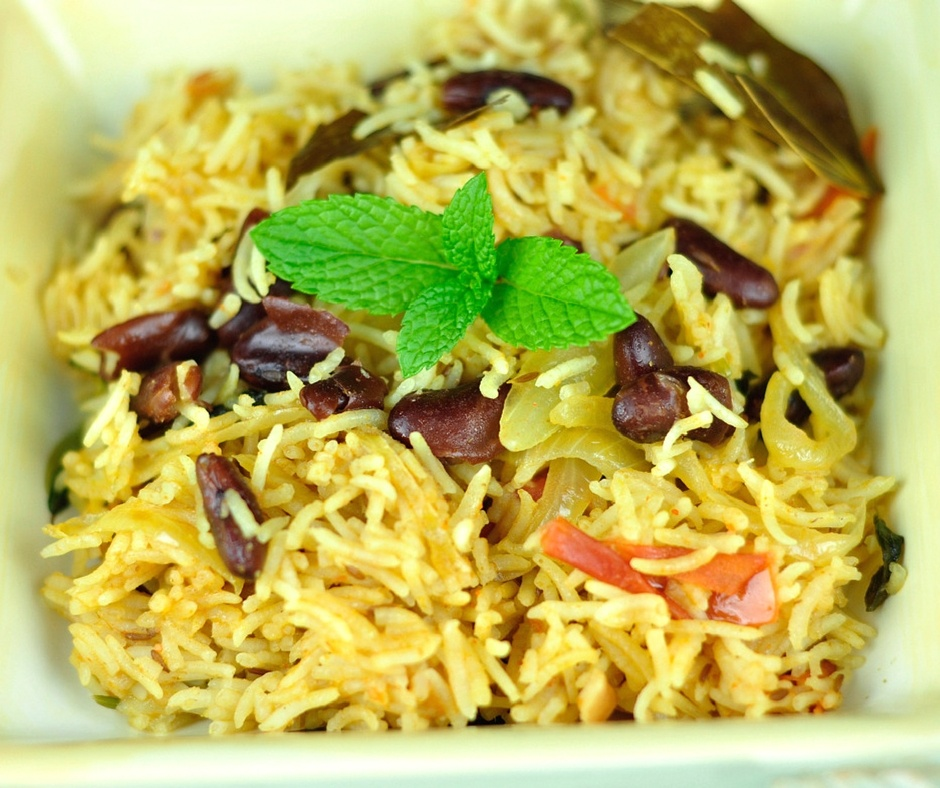 red kidney beans pulao