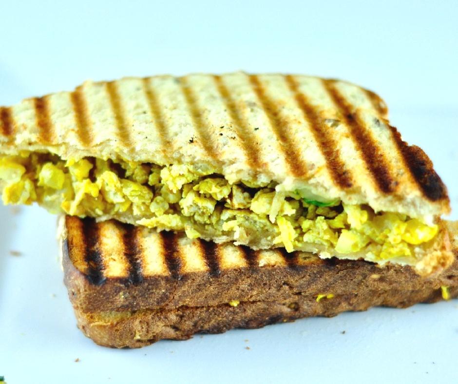 egg bhurji sandwich