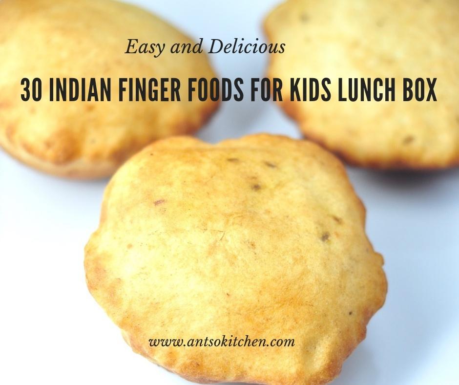 30 finger foods for kids lunch box