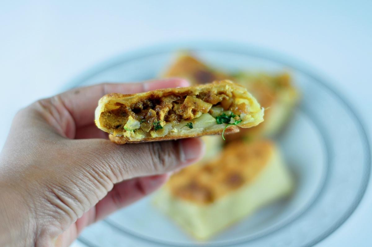 chicken stuffed paratha
