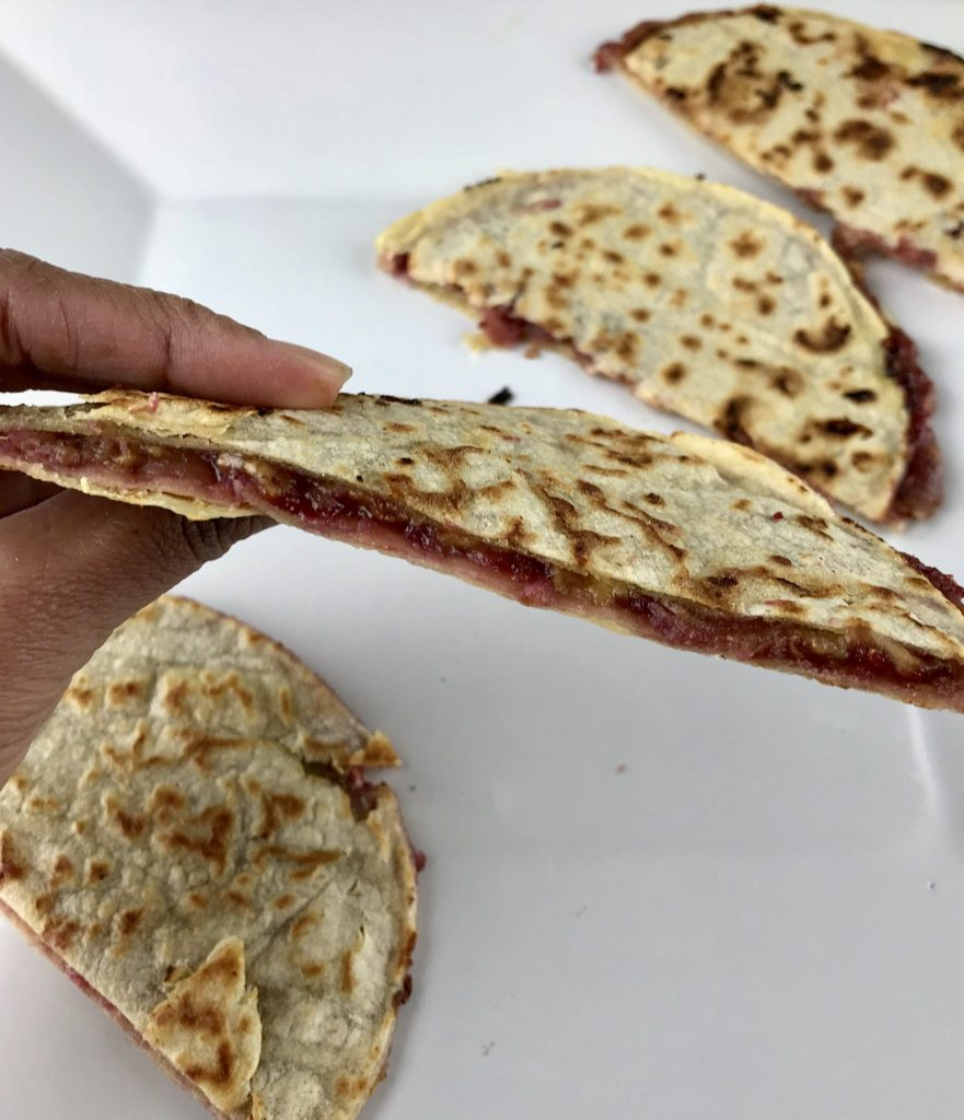 Peanut butter quesadilla