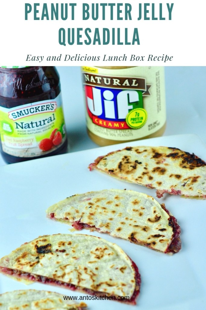 peanut butter jelly quesadilla