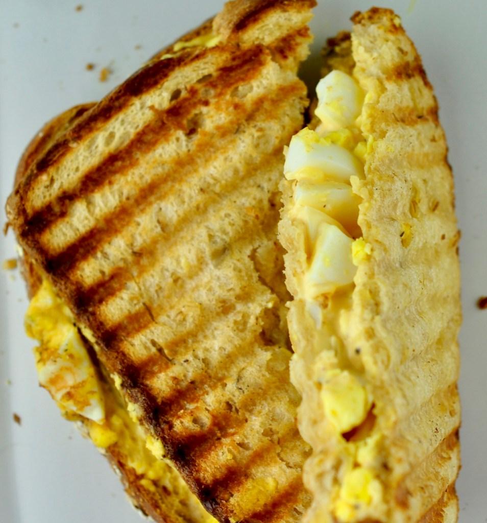 hard boiled eggs sandwich
