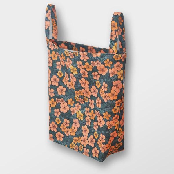 Tygkasse Twiny Flowers Orange