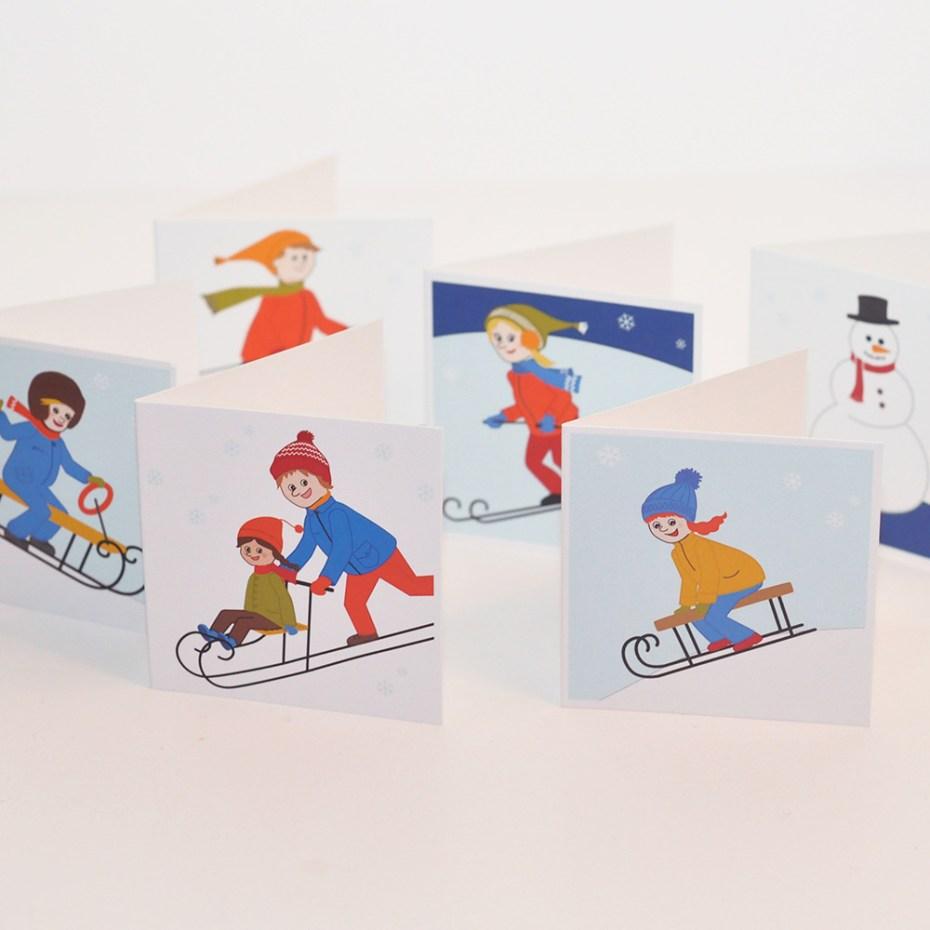 Paketkort vinter 6-pack