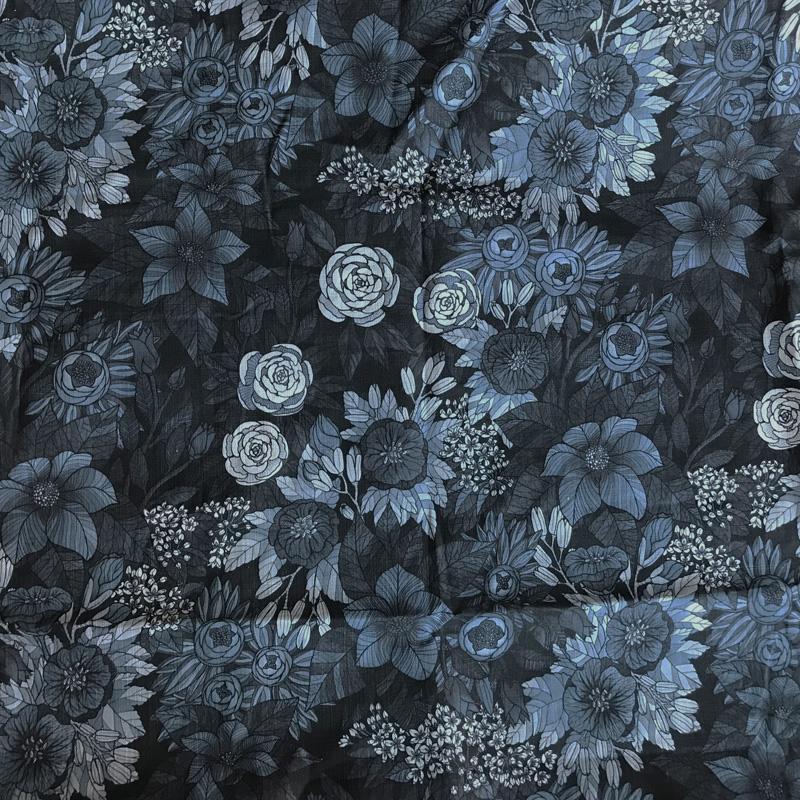 Metervara Old Flowers Bomull/lin, kraftig