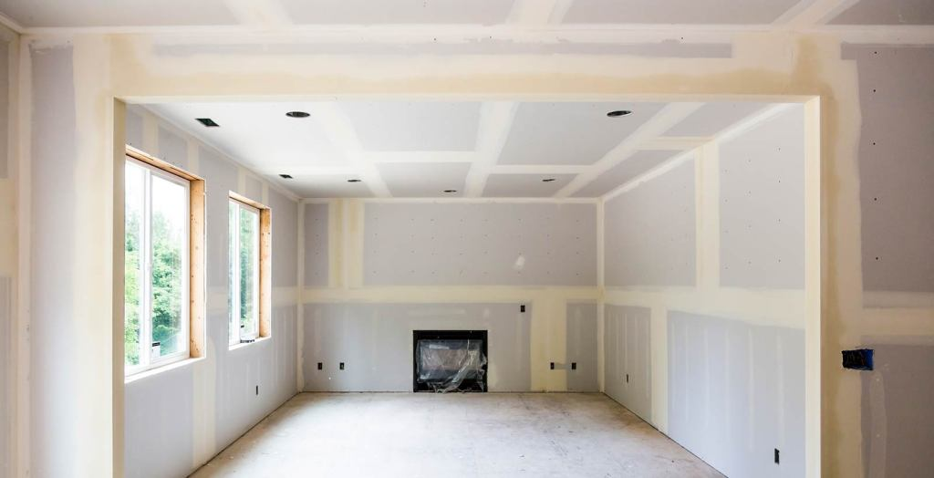 Replace drywall after a flood or water damage