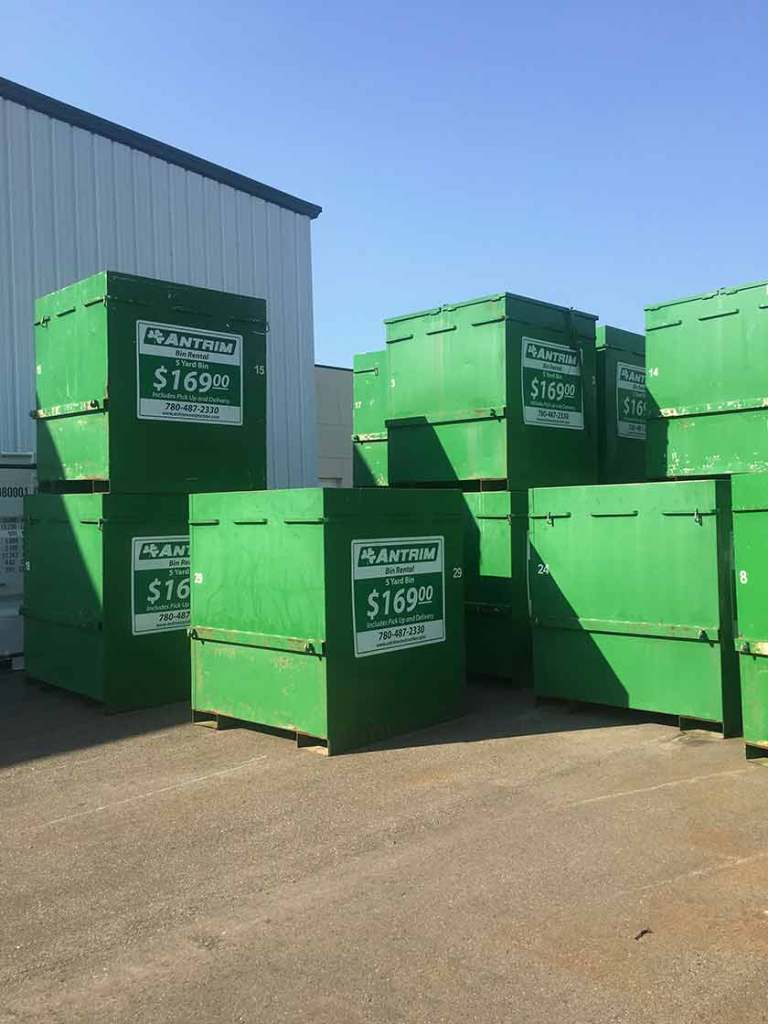 Bin rentals Edmonton and area - Antrim Construction