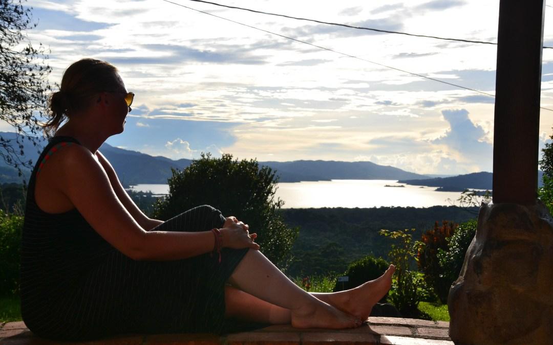 Aan de voet van de Arenal vulkaan