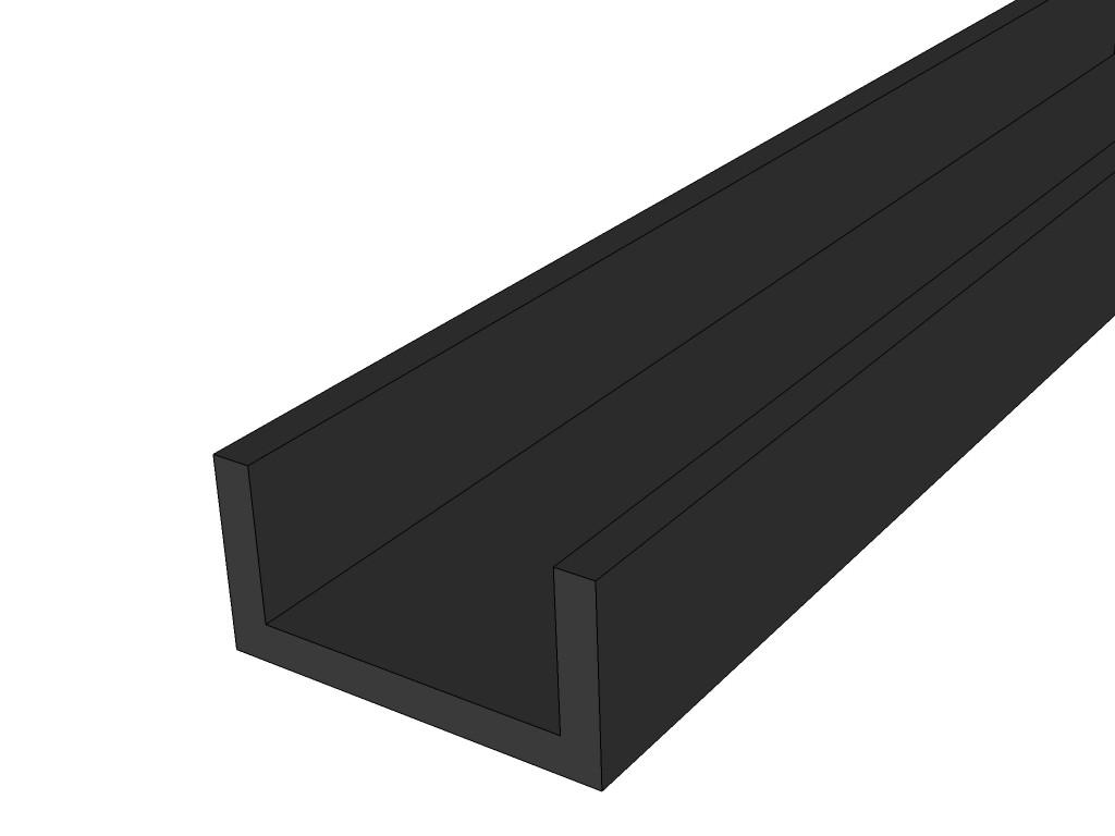 U Profil Kunststoff U Profil Kunststoff 12x10x1 Mm 2 M