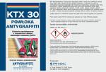 Etykieta powłoki antygraffiti KTX 30