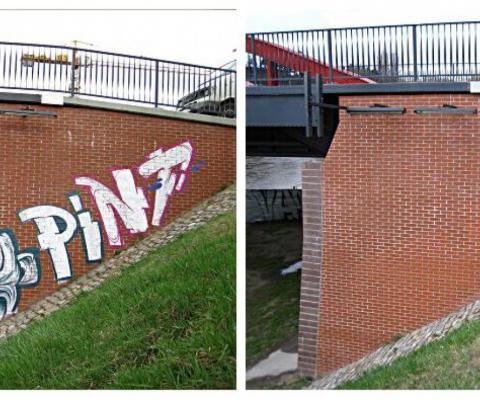 odstranjevanje grafitov opeka klinker
