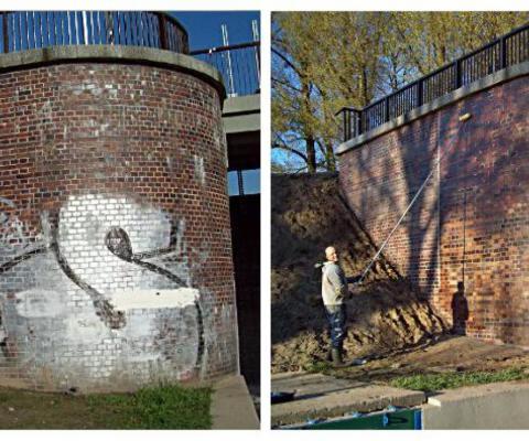 Odstranjevanje grafitov opeka