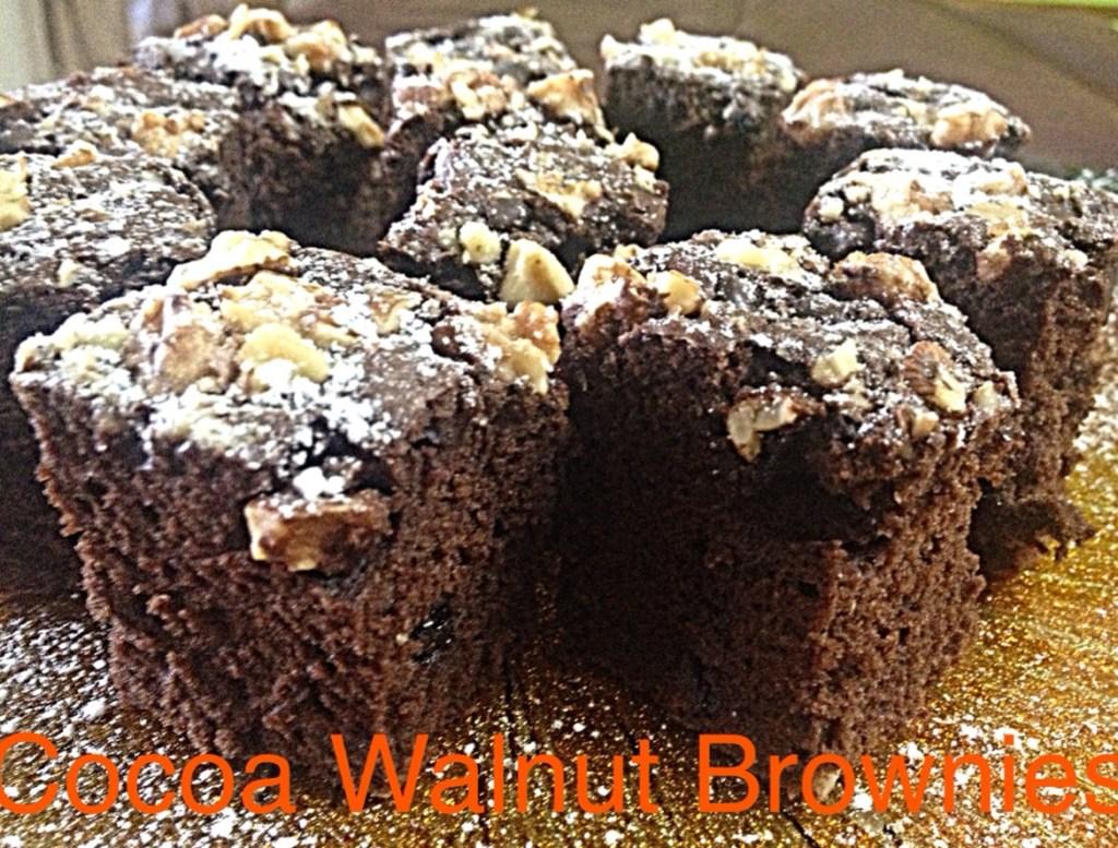 Cocoa Walnut Brownies