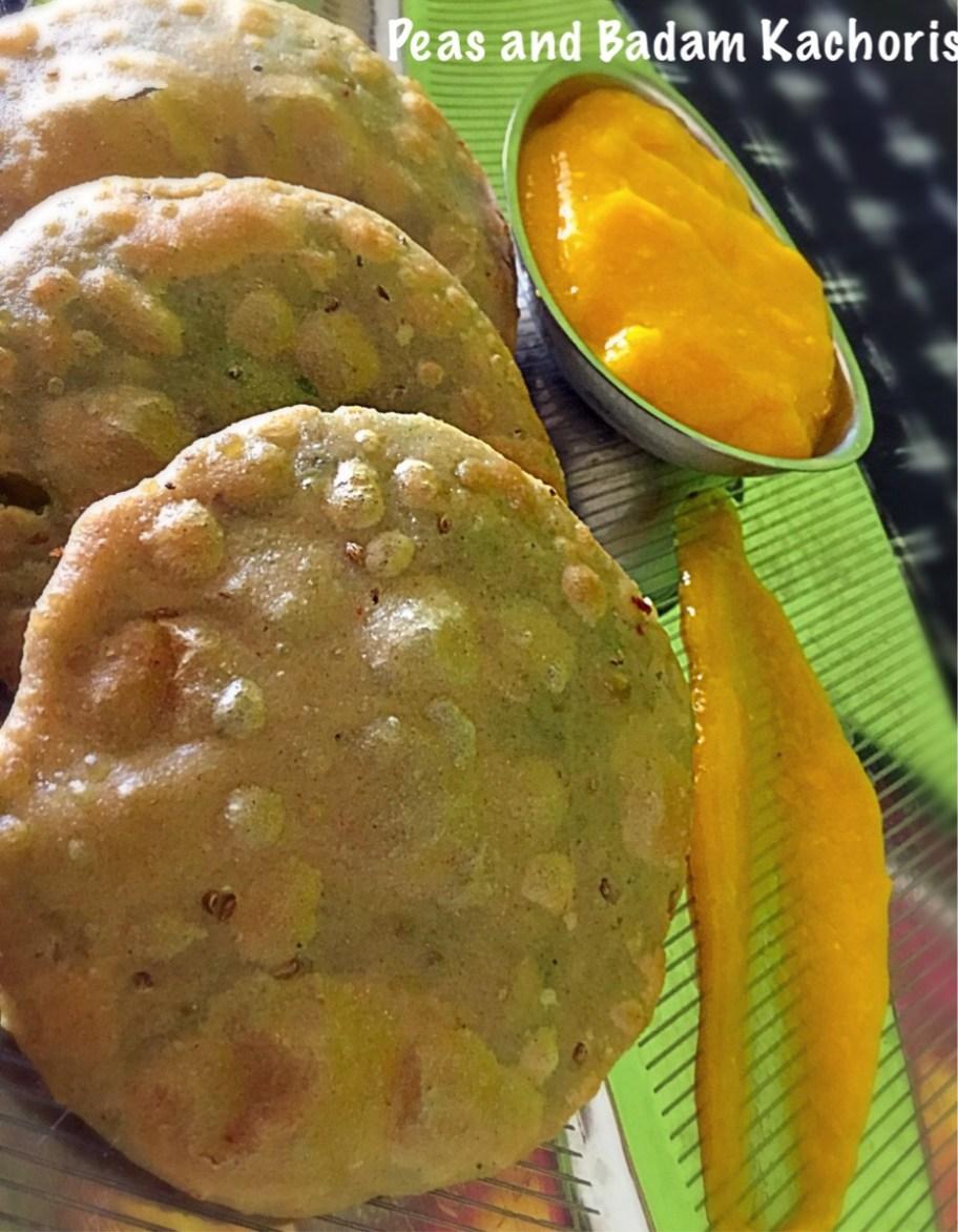 Peas and Badam Kachoris