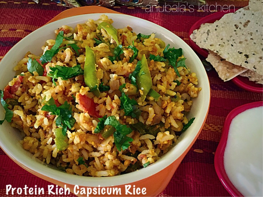 Protein Rich Capsicum Rice