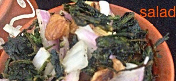 Palak and Walnut Salad