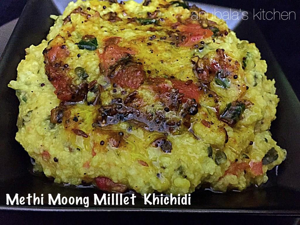 Methi Moong Millet Khichidi