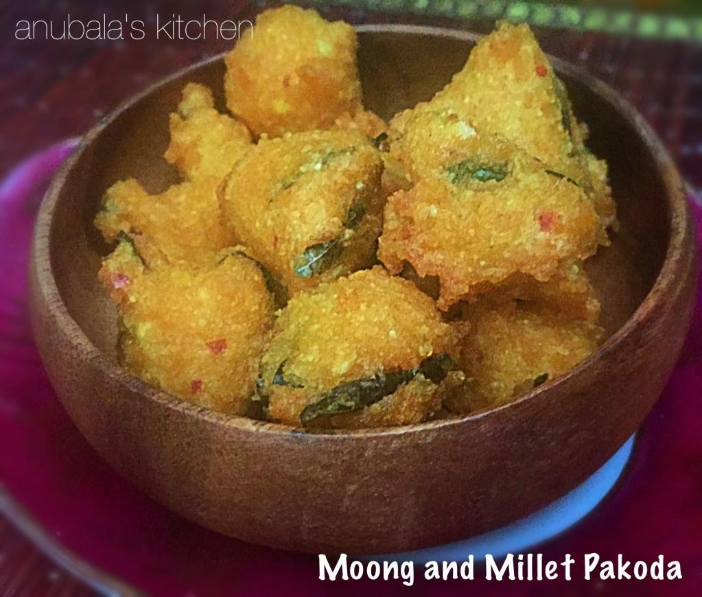 Moong dal and Millet Pakoda