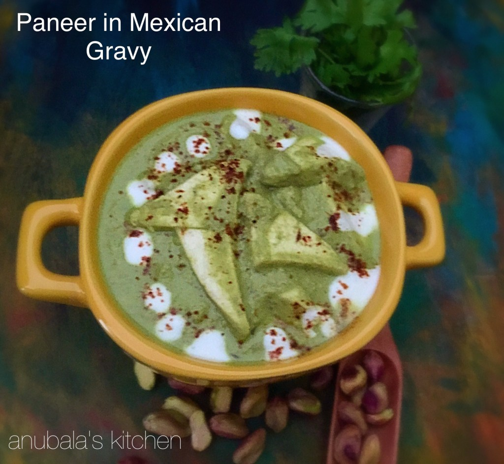Paneer in Mexican Gravy