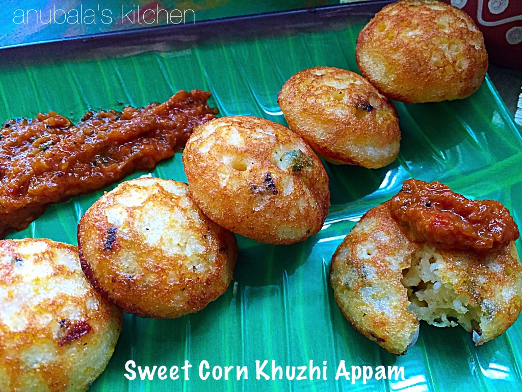 Sweet Corn Khuzhi Appam