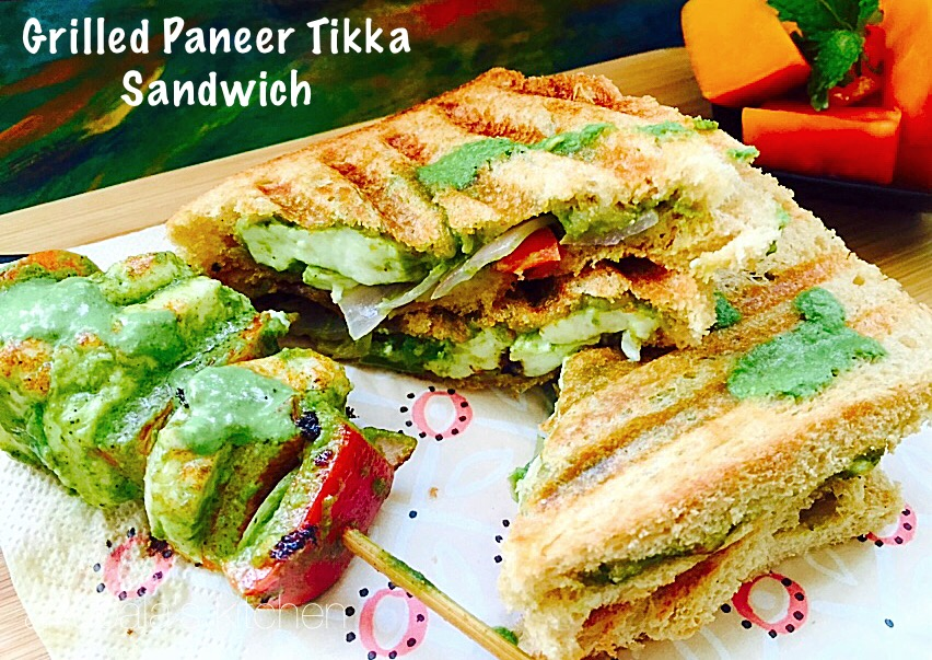 Grilled Paneer Tikka Sandwich