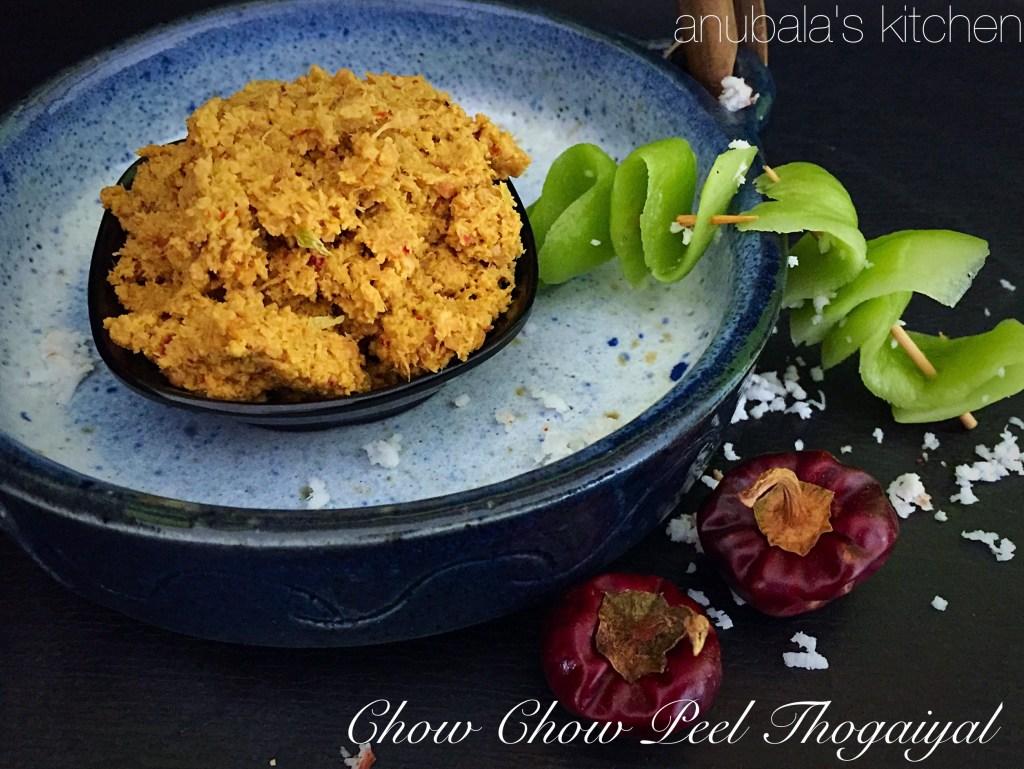 Chow Chow Peel Thogaiyal