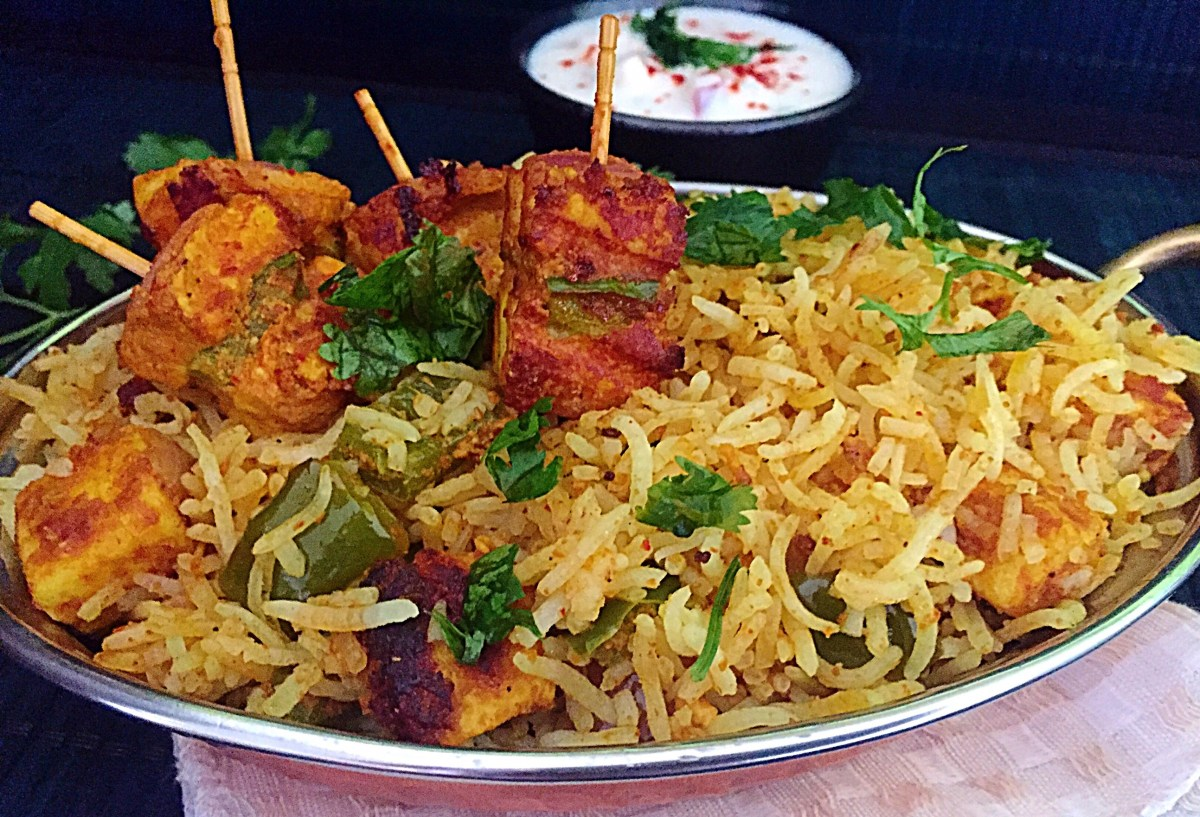 Paneer Tikka Fried Rice