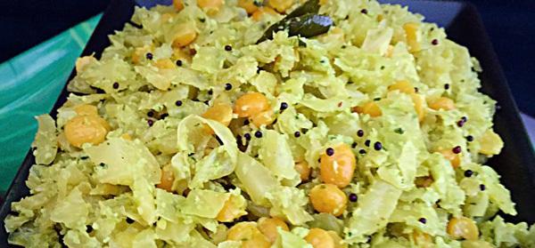 Cabbage Senagapappu Vepudu