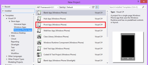 Project Template in VS2013